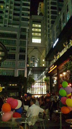 Crowd at Publika, a shopping mall in Malaysia on the new year eve 2013 Stock Photo