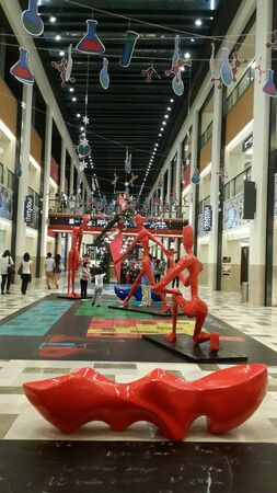 Artistic statues in Publika, a shopping mall in Malaysia 2013