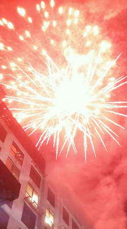 in conjunction: Fireworks at Publika in conjunction of a new year 2014 Stock Photo