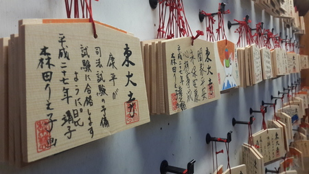 March 12 2015 - Wishes and messages hanging inside Todai-ji temple