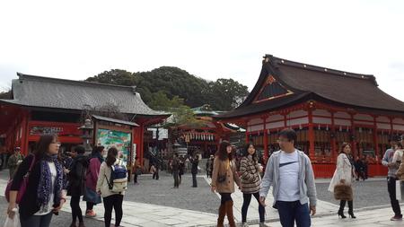 March 15 2015 - At the entrance of Fushimi Inari Taisha Shrine in Kyoto Japan
