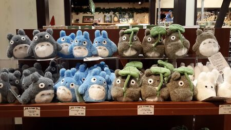 collectibles: March 14 2015 - Totoro collectibles in a local shop in Kyoto near Kiyomizudera