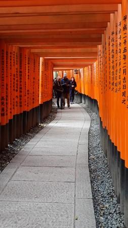 15 марта 2015 Фусими Инари Тайша Храм в Киото Япония Редакционное
