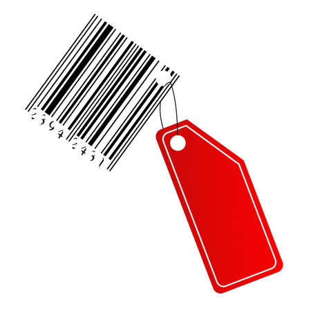 blanc: Blanc label with barcode Stock Photo