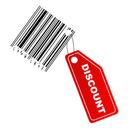 Discount label with barcode photo