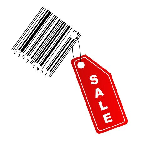 Sale label with barcode photo