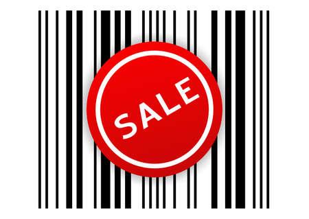 Vector illustration of marketing sign SALE illustration
