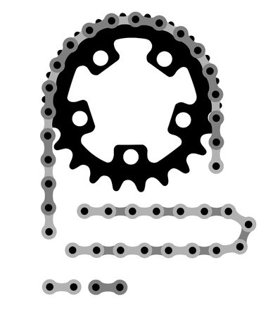 bike chain: Vector illustration of bicycle chain Stock Photo