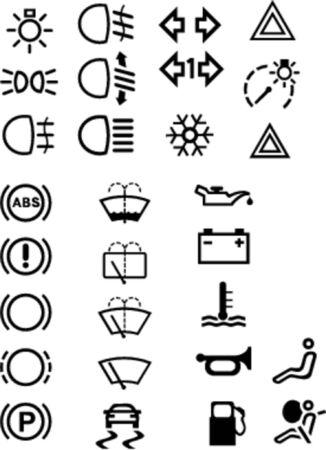 airbag: Car symbols Illustration