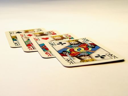 Photo of playing cards with kings Stock Photo - 1016883