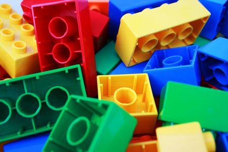 Photo of toy - colourful bricks photo