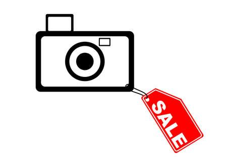 Vector illustration - Camera with Sale label Stock Illustration - 1016929