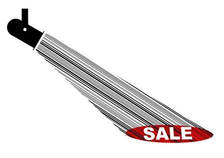 Vector illustration - Ray of sale illustration