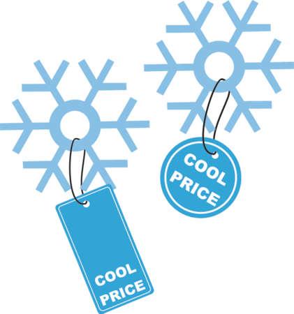 wit: Snow flake wit Cool Price label