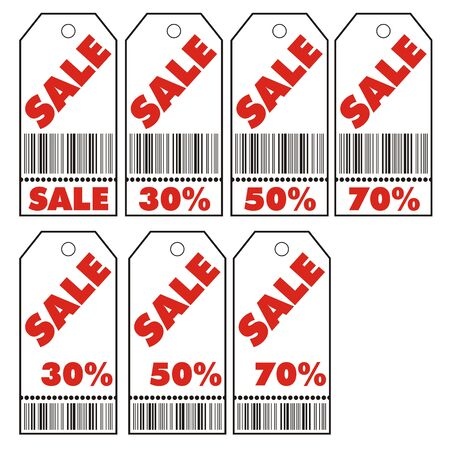 Vector illustration of various sale coupons Vector