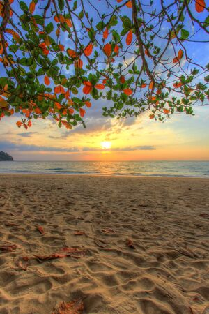 southern thailand: SUNSET AT KHAO LAK BEACH,Phang Nga Province,southern Thailand - popular for its serene ambiance