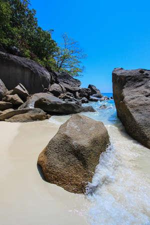 similan islands: Koh 4,Similan Islands National Park,Phang Nga Province,southern Thailand.With white beach,beautiful water.