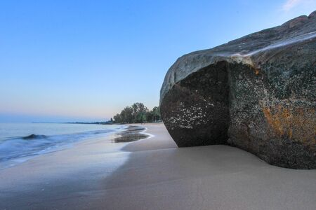 southern thailand: EARLY IN THE MORNING  AT KHAO LAK BEACH,Phang Nga Province,southern Thailand - popular for its serene ambiance