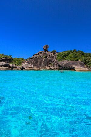 similan islands: Koh 8,Similan Islands National Park,Phang Nga Province,southern Thailand.With white beach,beautiful water.