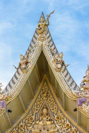 nakhon: Beautiful architecture at  Wat Sisa Thong ,Nakhon Pathom,Thailand