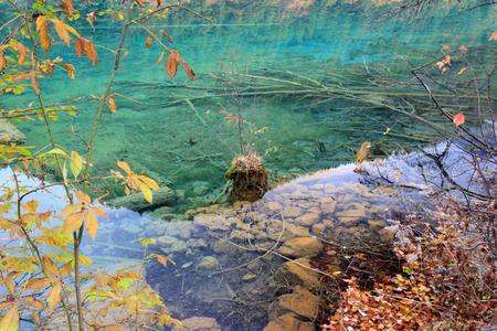 sichuan: MirrorLake,Jiuzhaigou,north of Sichuan province, China.