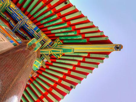 nonthaburi: The roof of  Wat Leng Nei Yi 2 (Barom Racha Kajanapisek Anusorn Canasongjennigairangsan temple),Bang Bua Thong , Nonthaburi