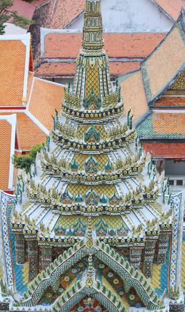 landscape riverside: Beautiful decorations at Wat Arun Ratchawararam Ratchawaramahawihan(Temple of Dawn) - Buddhist temple in Bangkok Yai district of Bangkok, Thailand, on the west bank of Chao Phraya River.