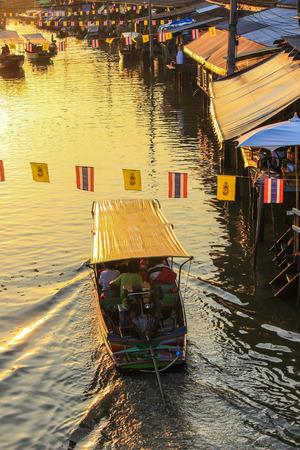 amphawa: Amphawa Floating Market,Amphawa district,Samut Songkhram Province,Thailand. Stock Photo
