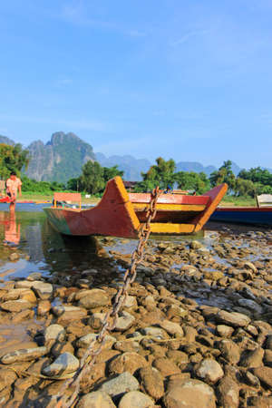 nam: Vang Vieng -a tourist-oriented town in Laos in Vientiane Province.lies on the Nam Song River.