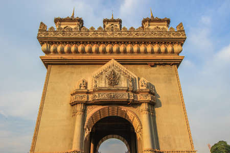 laotian: Patuxai(Victory Gate or Gate of Triumph)- a war monument on Lang Xang Avenue in the centre of Vientiane, Laos.