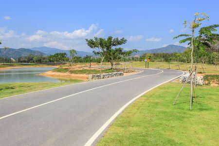 bike lane: Bike lane at Singha Park,Mueang Chiang Rai District,Chiang Rai,Northern Thailand