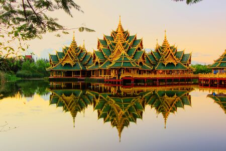 enlightened: Pavilion of the Enlightened in Ancient Siam,Samutparkan,Thailand.