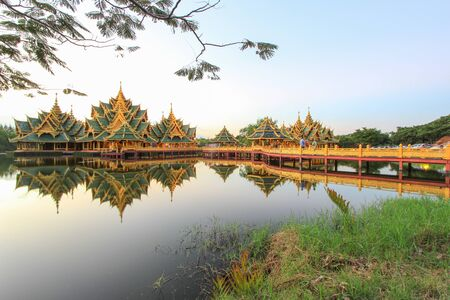 Pavilion of the Enlightened in Ancient Siam,Samutparkan,Thailand.