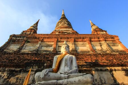 Buddha statue at Wat Yai Chai Mongkhon,Ayutthaya,Thailand