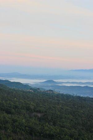 mod: Morning sky and stunning mountain scenery at Doi Hua Mod,Umphang Wildlife Sanctuary,Tak Province,northwestern Thailand Stock Photo