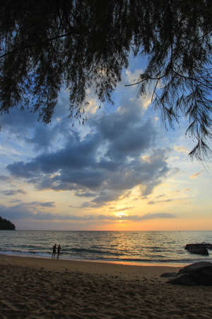 phang nga: Sunset at Khao Lak beach,Phang Nga Province,southern Thailand