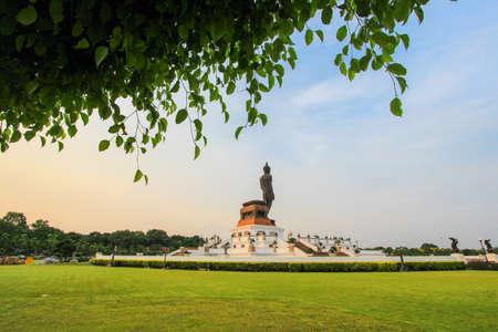 nakhon pathom: Buddha statue at Phutthamonthon(Buddhist park in Phutthamonthon district,Nakhon Pathom Province of Thailand) Stock Photo