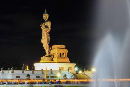 puja: triple circumambulation on Visakha Puja Day  at Phutthamonthon (Buddhist park in Nakhon Pathom Province of Thailand)