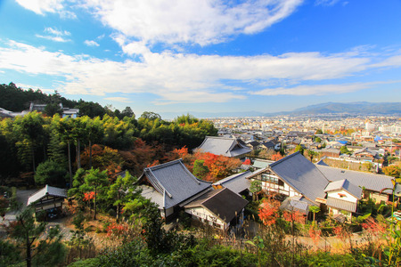 panoramic view of Kyoto as seen from Enkoji Temple