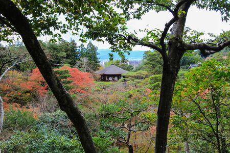 japanese fall foliage: Autumn at Ginkaku-ji(Temple of the Silver Pavilion),Sakyo ward,Kyoto,Japan