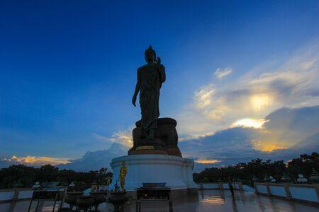 nakhon pathom: Buddha statue at Phutthamonthon (Buddhist park in Phutthamonthon district, Nakhon Pathom Province of Thailand).
