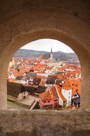 archtecture: old town of Cesky Krumlov, Czech Republic
