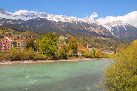inn: Beautiful landscape across  Inn River,Innsbruck, Austria