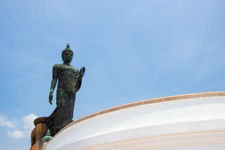 nakhon: blue sky at  Phutthamonthon (Buddhist park in Phutthamonthon district, Nakhon Pathom Province of Thailand)