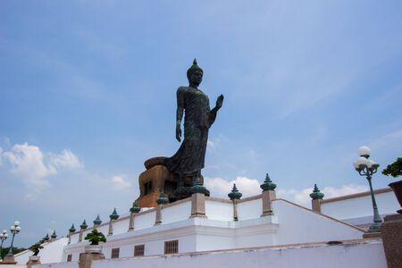 nakhon pathom: blue sky at  Phutthamonthon (Buddhist park in Phutthamonthon district, Nakhon Pathom Province of Thailand)