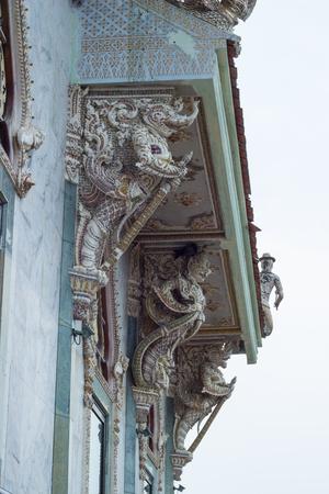 nakhon: beautiful stucco decorations at Vihara building of Wat Sisa Thong ,Nakhon Pathom,Thailand