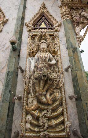 nakhon pathom: beautiful stucco decorations at Vihara building of Wat Sisa Thong ,Nakhon Pathom,Thailand