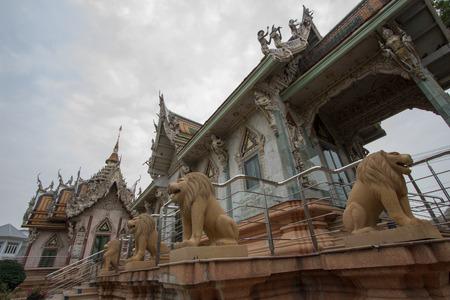 nakhon pathom: Beautiful architecture at Vihara building of Wat Sisa Thong ,Nakhon Pathom,Thailand Stock Photo