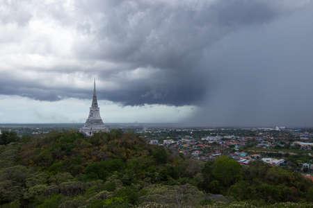 wang: overcast sky at Phra That Chom Phet,Phra Nakhon Khiri(Khao Wang) in Phetchaburi province,Thailand.