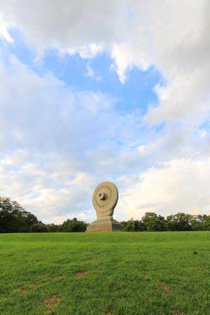 nakhon pathom: Dharmacakra or the wheel of doctrine at Phutthamonthon,Buddhist park in Nakhon Pathom Province,Thailand